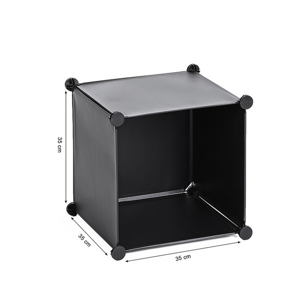 Úložný plastový organizér LPC112 čierna 18
