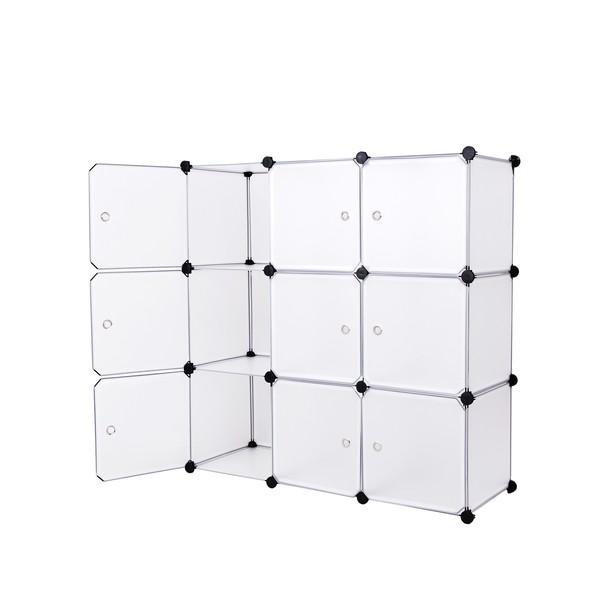 Úložný plastový organizér  LPC116WS biela/priesvitná 5