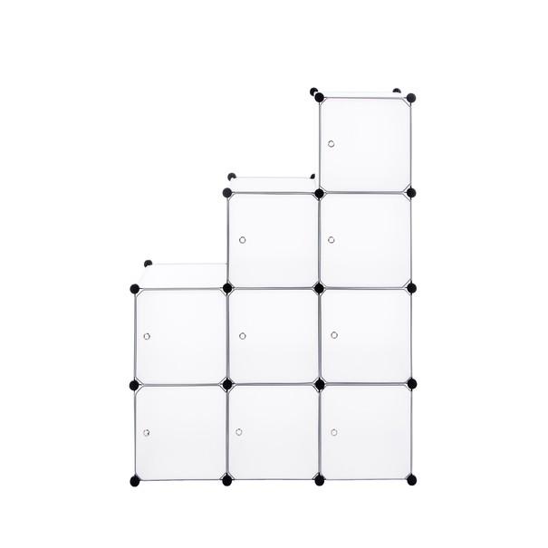 Úložný plastový organizér  LPC116WS biela/priesvitná 10