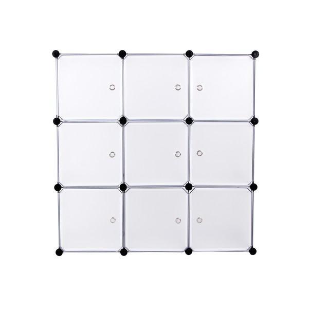 Úložný plastový organizér  LPC116WS biela/priesvitná 14
