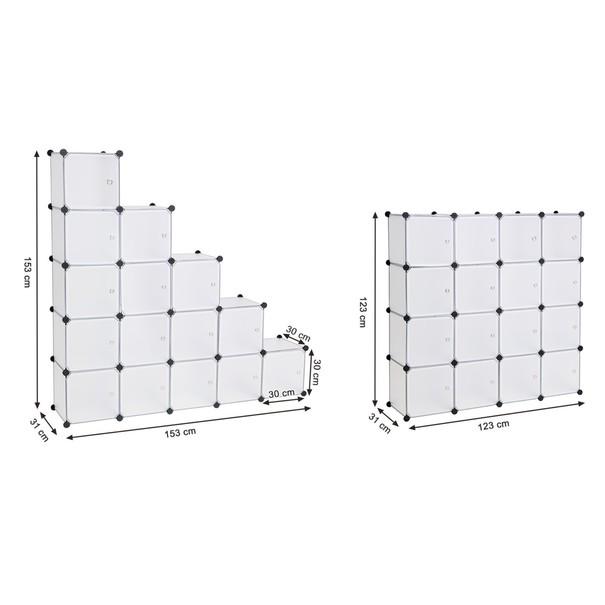 Regál LPC44S bílá/transparentní 7