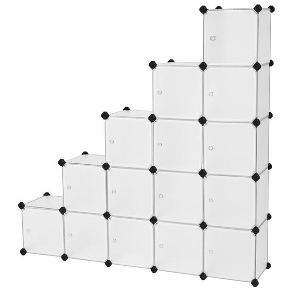 Regál LPC44S bílá/transparentní 1