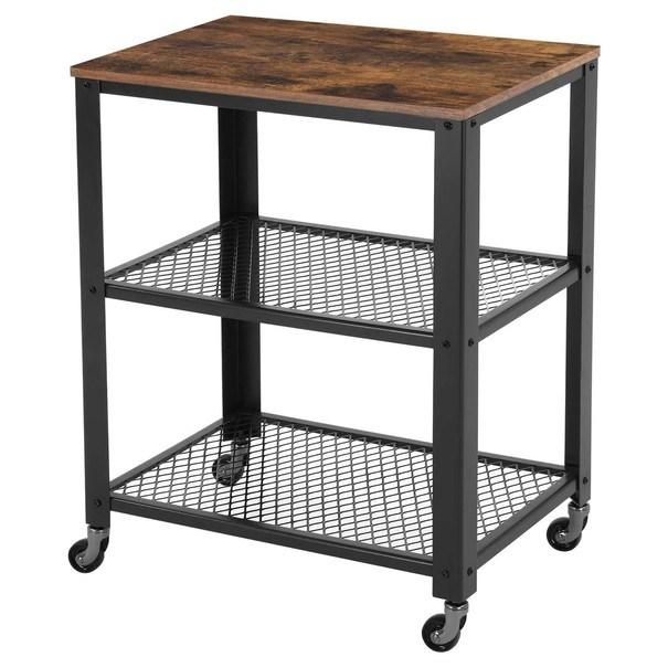 Sconto Servírovací stolík LRC78X čierna/hnedá