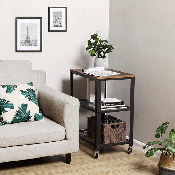 Servírovací stolek  LRC78X černá/hnědá 4