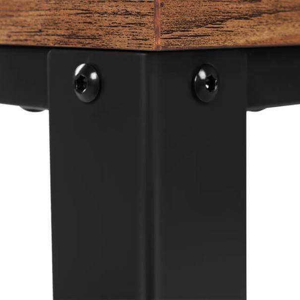 Servírovací stolek  LRC78X černá/hnědá 5
