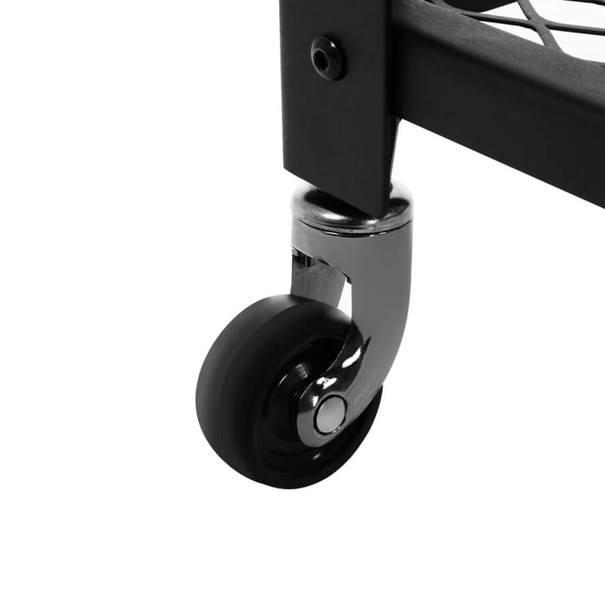 Servírovací stolek  LRC78X černá/hnědá 6