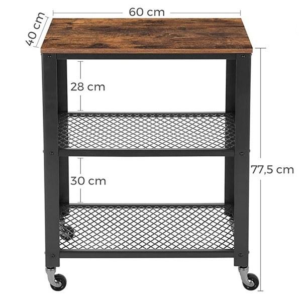Servírovací stolek  LRC78X černá/hnědá 8
