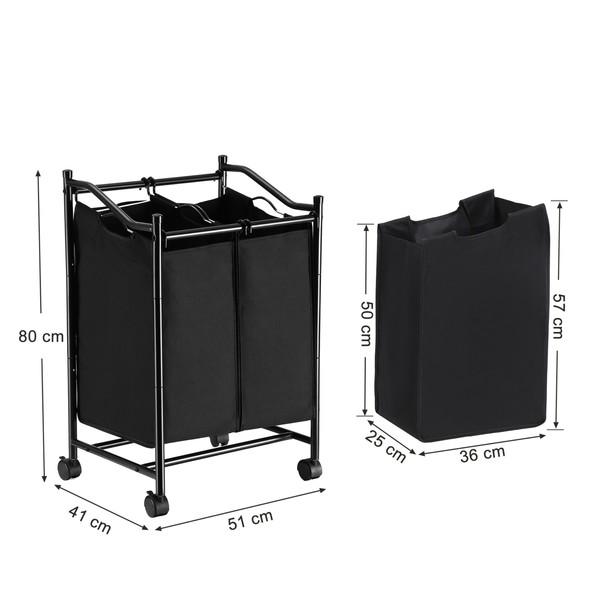 Koš na prádlo LSF002 černá 16