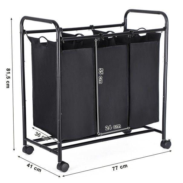 Koš na prádlo LSF003 černá 15
