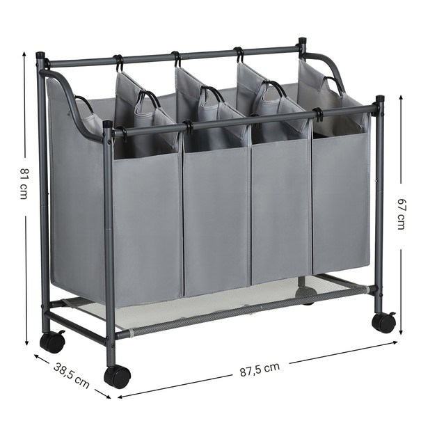 Koš na prádlo LSF005 šedá 11