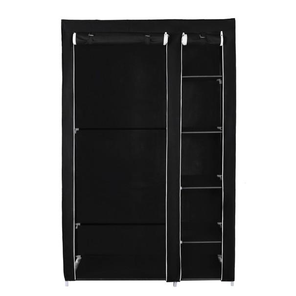 Látková šatní skříň LSF007 černá 19