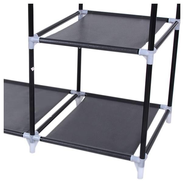 Látková šatní skříň LSF007 černá 21