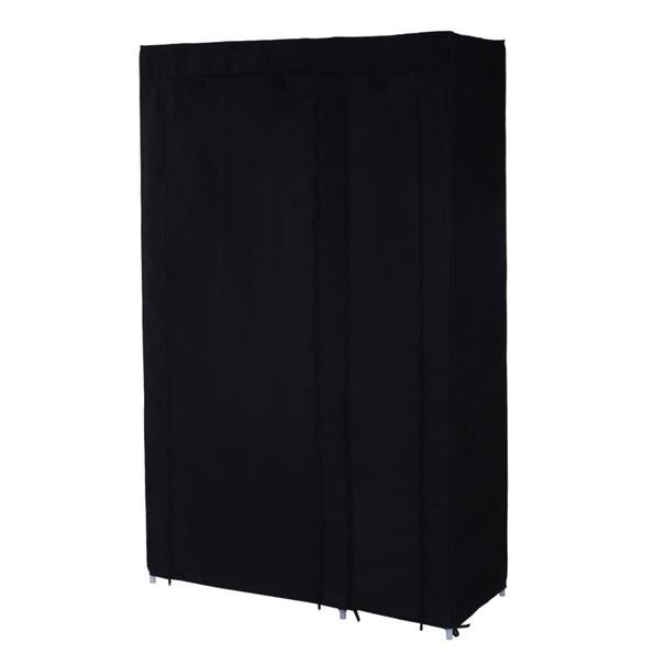 Látková šatní skříň LSF007 černá 22