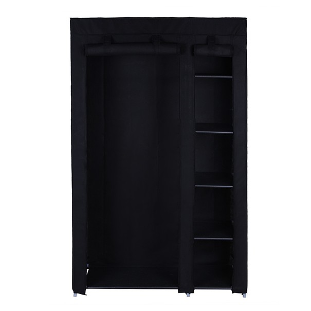 Látková šatní skříň LSF007 černá 23