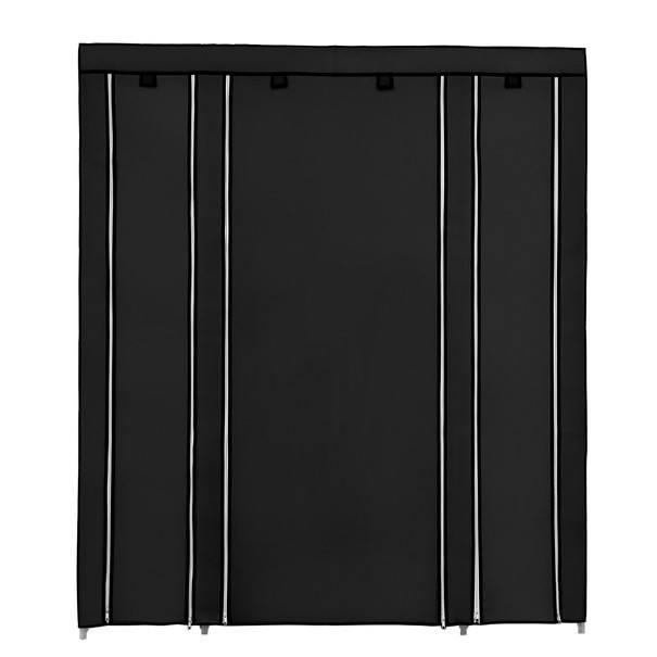 Látková šatní skříň LSF03H černá 5