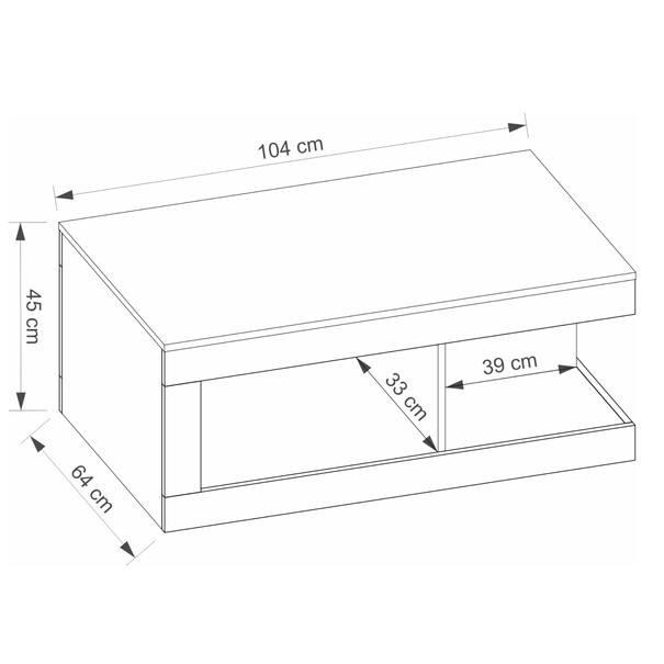 Konferenční stolek LUCI dub artisan/bílá/tmavě šedá 6