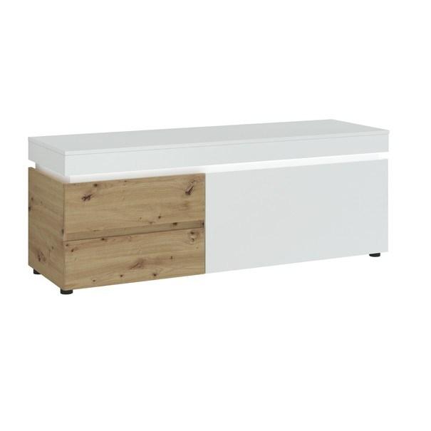 Sconto TV komoda LUCI dub artisan/alpská biela, šírka 150 cm