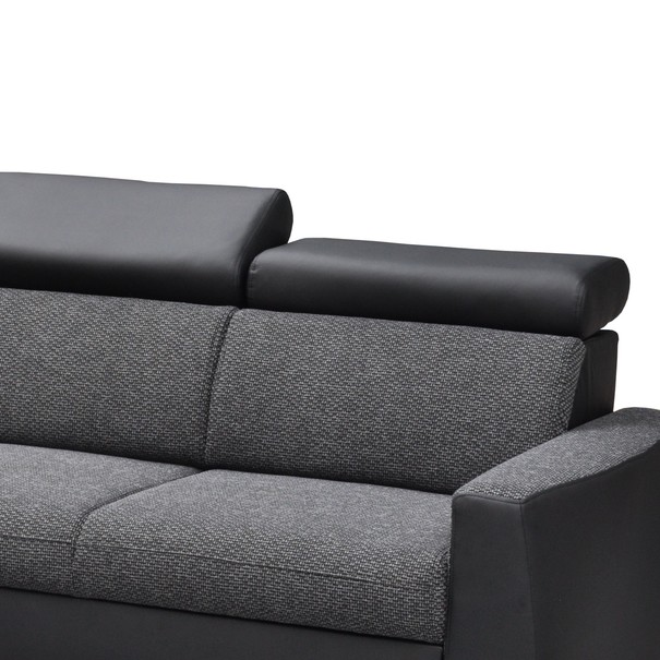 Sedacia súprava LUMIO sivá/čierna 4