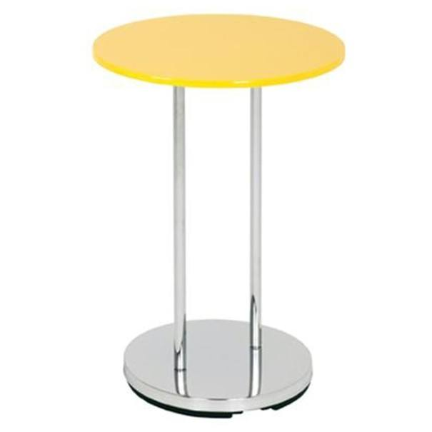 Přístavný stolek  LUPUS žlutá/kov 1