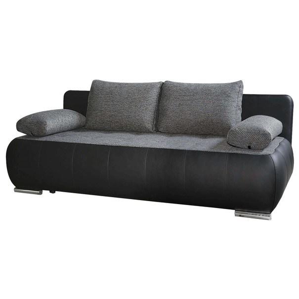 Pohovka  LUX čierna/sivá 1