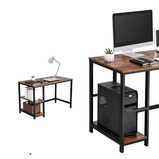 Psací stůl LWD47X černá/hnědá 3