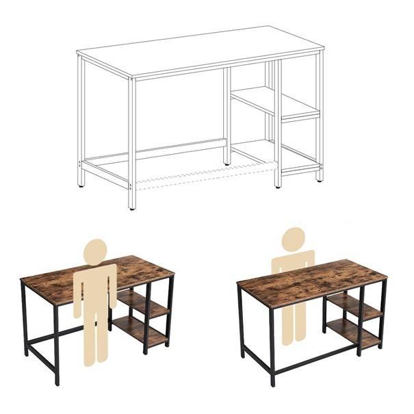 Psací stůl LWD47X černá/hnědá 4