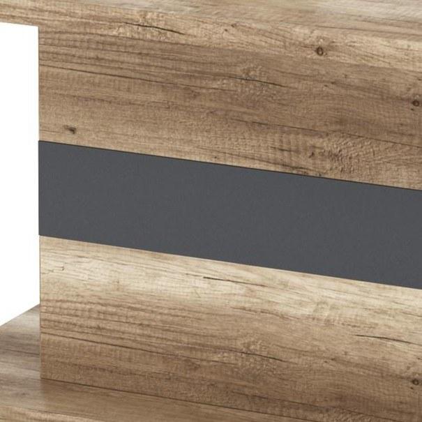 Konferenční stolek MADRAS dub canyon/antracitová 2