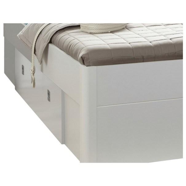 Postel s nočními stolky MAESTRO bílá, 180x200 cm 2