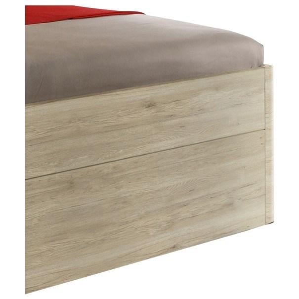 Posteľ s nočnými stolíkmi MAESTRO dub sanremo svetlý, 180x200 cm 3