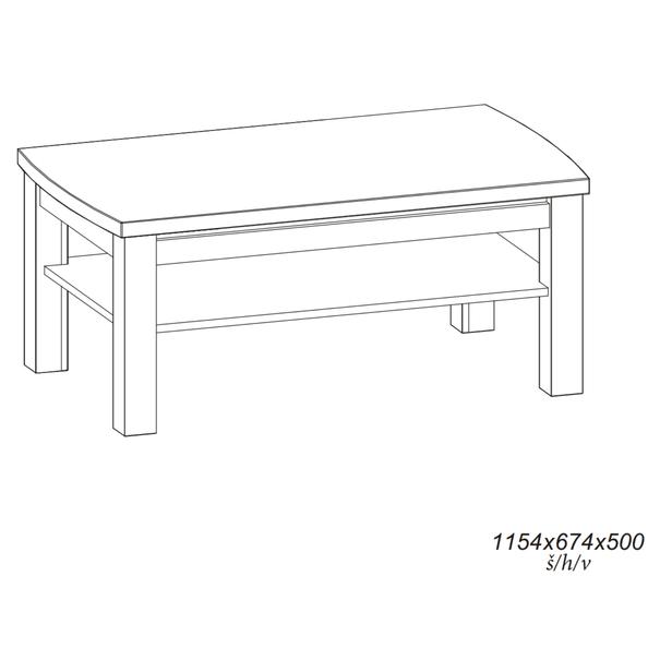 Konferenční stolek MALLORCA ořech tmavý 6
