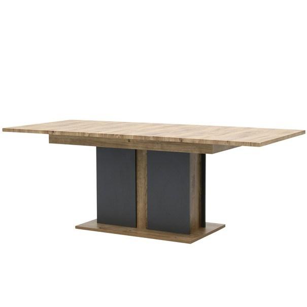 Jídelní stůl MANHATTAN dub havelland cognac/grafit 3