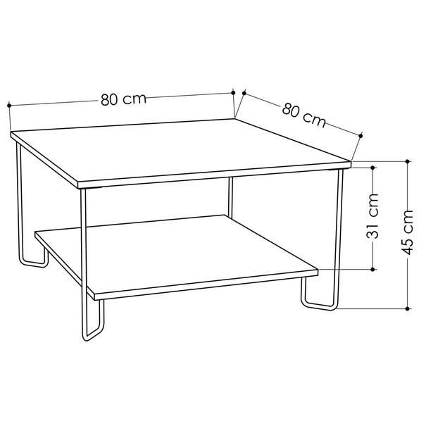 Konferenční stolek MARBO dub 3