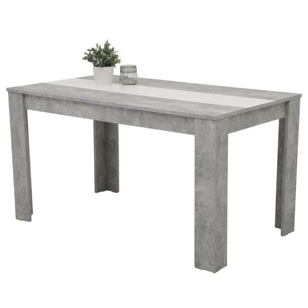 Sconto Jídelní stůl MAREIKE T beton/bílá - nábytek SCONTO nábytek.cz
