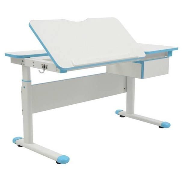 Rastúci stôl pre deti  MARIAN biela/modrá 1