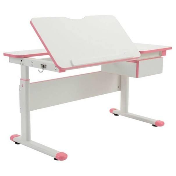 Rostoucí dětský stůl  MARIANA bílá/růžová 1
