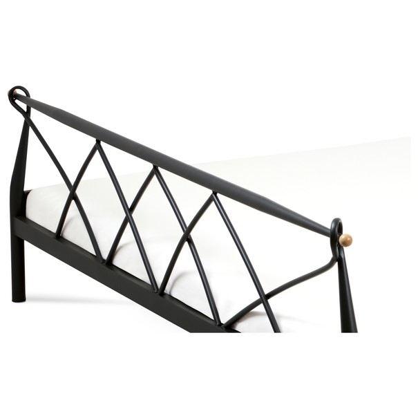 Postel MARIANA černá, 180x200 cm 4