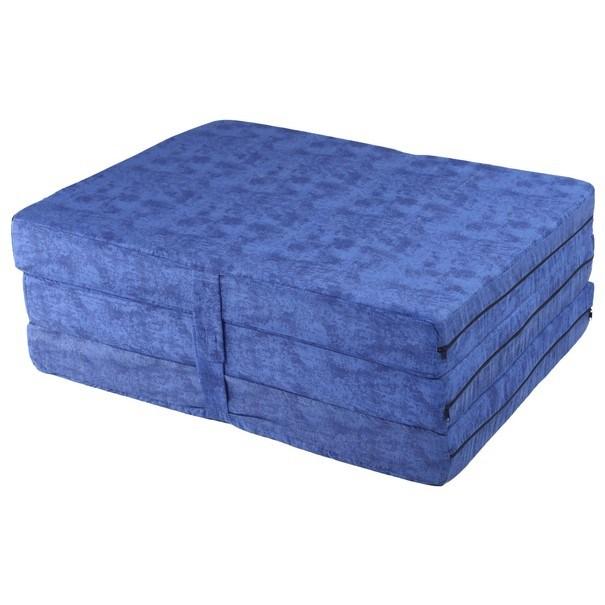 Skládací matrace MARMOR modrá 2