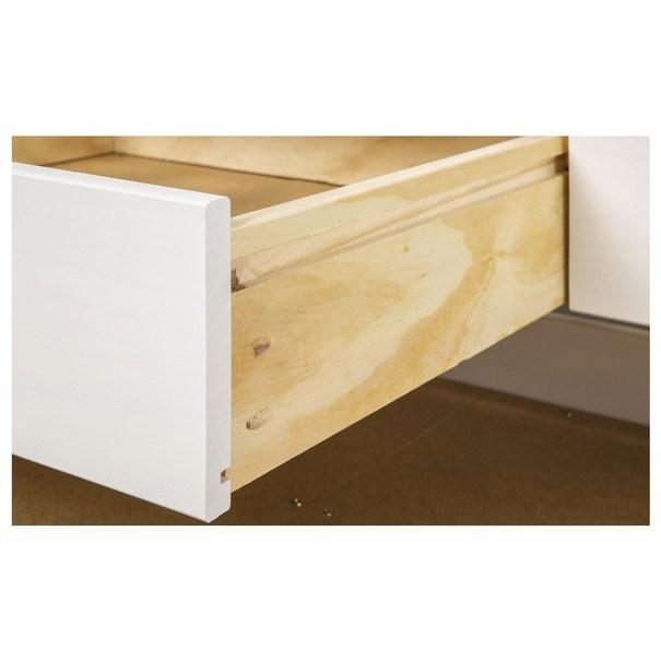 Posteľ s výsuvným lôžkom MARULLA biela, 90x200 cm 9