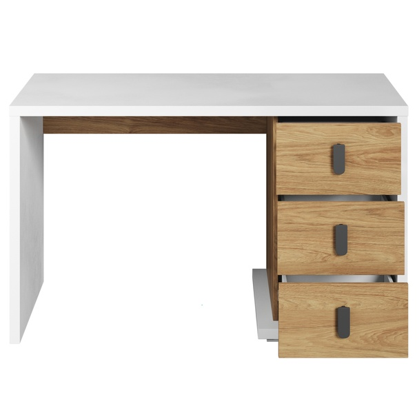 Psací stůl MASSI 06 dub hikora/bílá 4