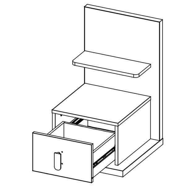 Noční stolek MASSI 08 dub hikora/bílá, pravé provedení 5