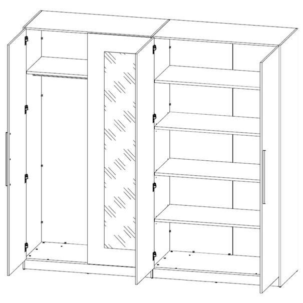 Šatní skříň MATTINO dub sonoma/bílá 4