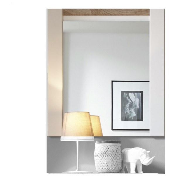 Zrcadlo  MELLY bílá/dub westminster 1