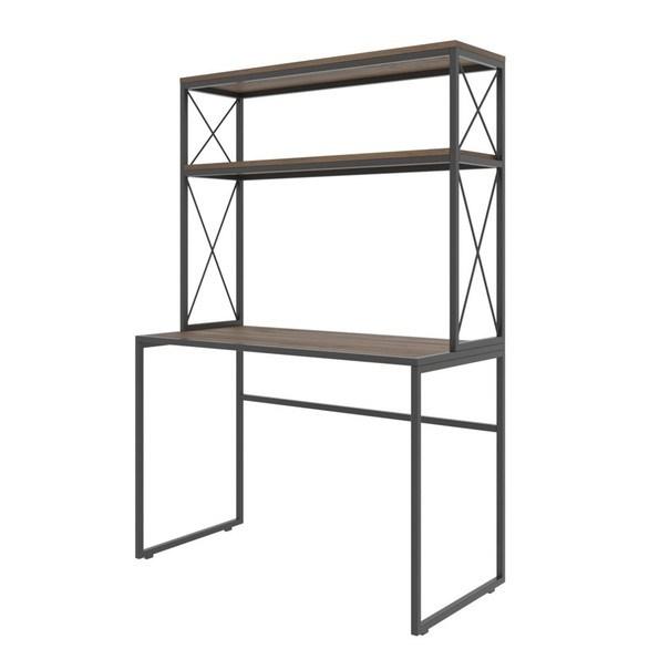 Sconto Písací stôl s regálom MERCAN borovica/čierna.