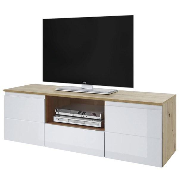 Sconto TV stolek MEZO 160 dub artisan/bílá - nábytek SCONTO nábytek.cz