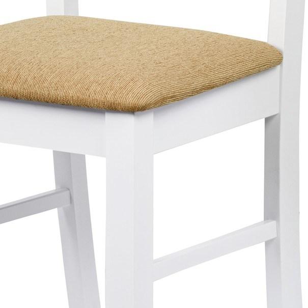 Jídelní židle MICHALA 1 bílá/písková 8