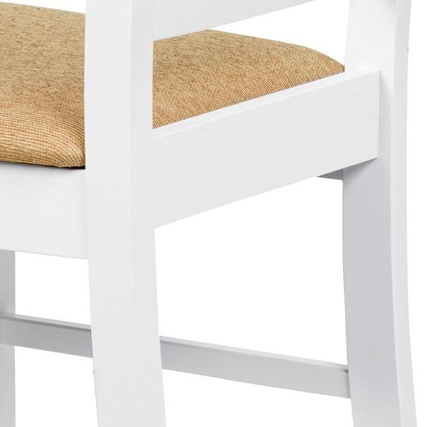 Jídelní židle MICHALA 1 bílá/písková 9