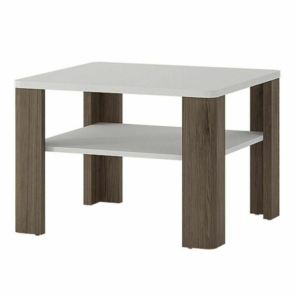 E-shop Konferenční stolek MILANO alpská bílá/dub sanremo