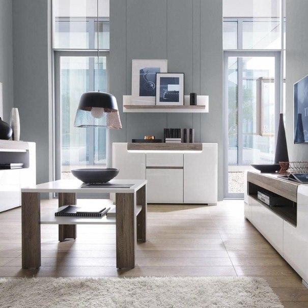 Konferenční stolek  MILANO alpská bílá/dub sanremo 2