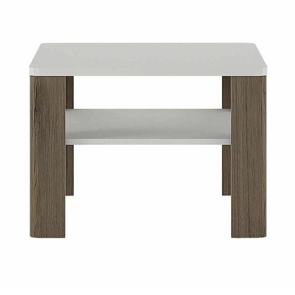 Konferenční stolek  MILANO alpská bílá/dub sanremo 3
