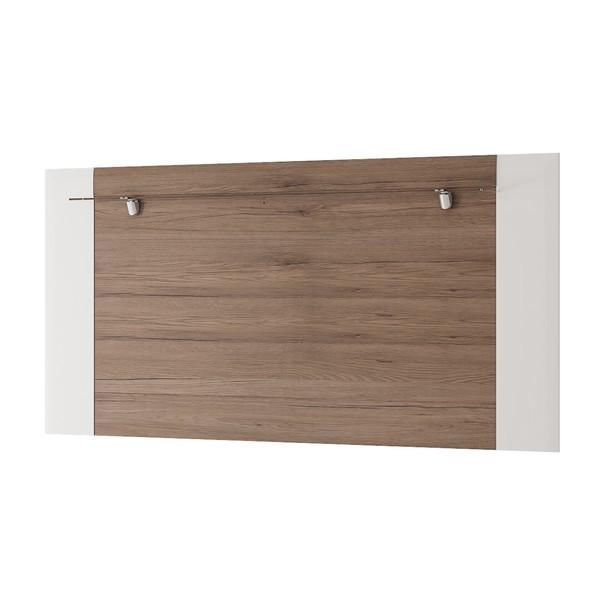 Nástěnný panel MILANO bílá vysoký lesk/dub sanremo 1